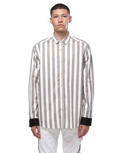 Konus Stripe Long Sleeve Button Up Shirt