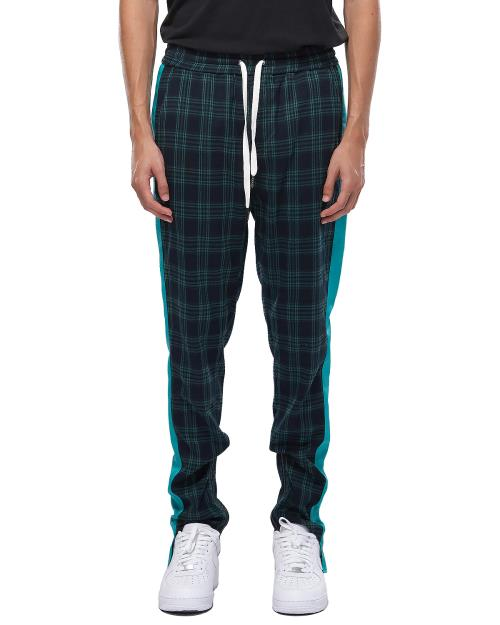 Konus Plaid Track Pants with Ankled Zippers