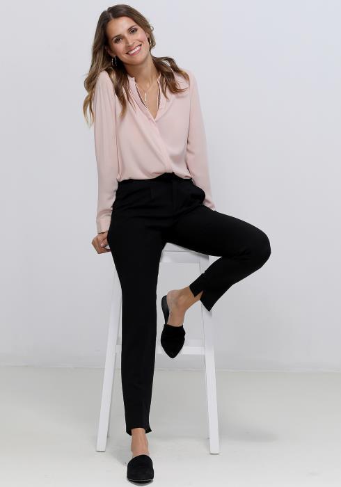 Ro&De Noir V-Neck Essential Blouse Women Clothing