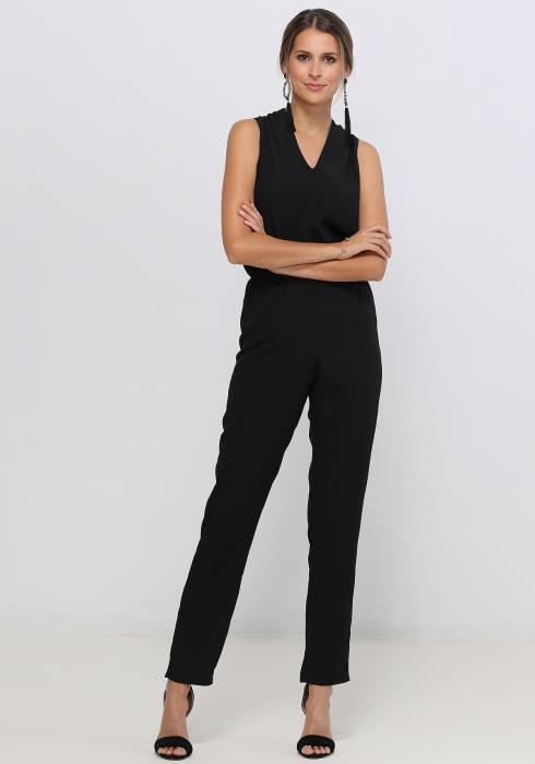 Ro&De Noir Sleeveless V-Neck Jumpsuit In Black Women Clothing