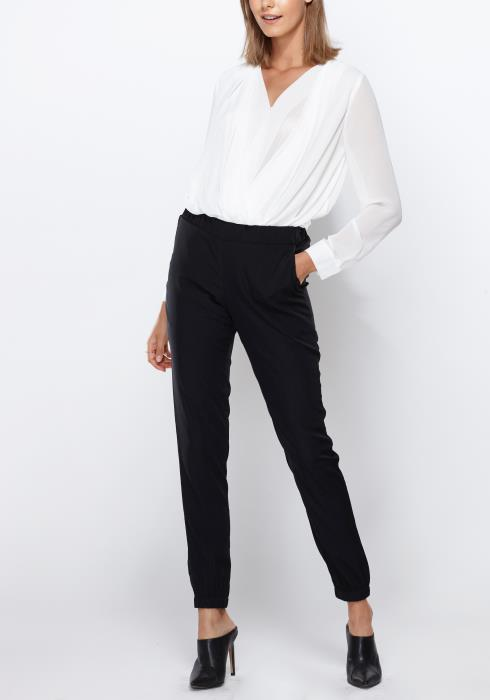 Ro&De Noir High Waist Cuffed Pants Women Clothing