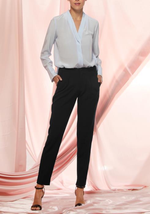 Ro&De Noir Slim Fit Pants Women Clothing