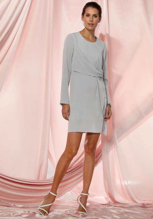 Ro&De Noir Twist Front Dress Women Clothing