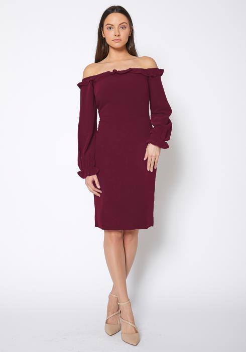 Ro&De Noir Off Shoulder Bodycon Dress Women Clothing