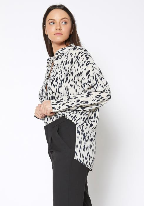 Ro&De Noir Animal Print Shirt Blouse
