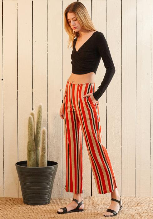 Nurode Hi-waisted Cropped Pants