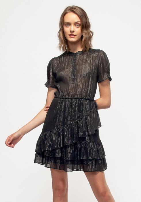 Nurode Lurex Yoryu Ruffle Dress