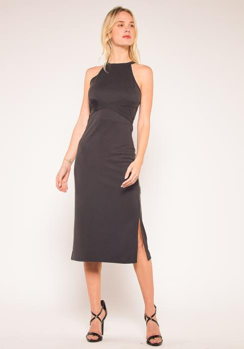 Nurode Haltered Sheath Midi Dress