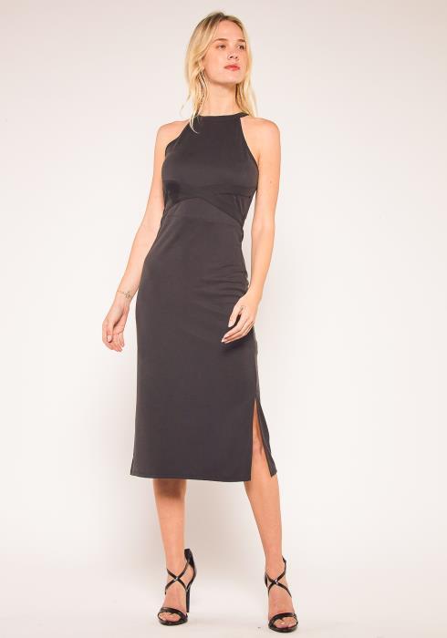 Nurode Haltered Sheath Midi Dress