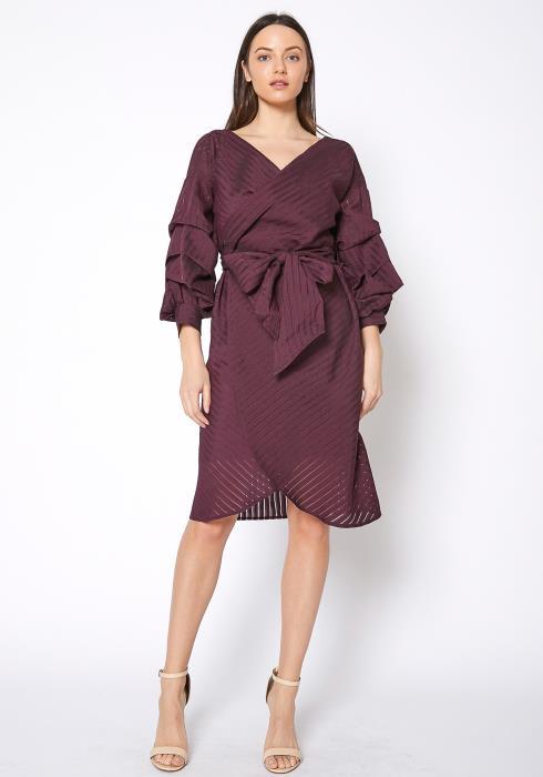 Ro&De Noir Tie Waist Wrap Dress