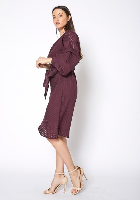 Ro&De Noir Tie Waist Wrap Dress
