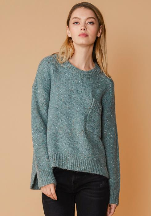 Nurode Crewneck Pocket Front Sweater