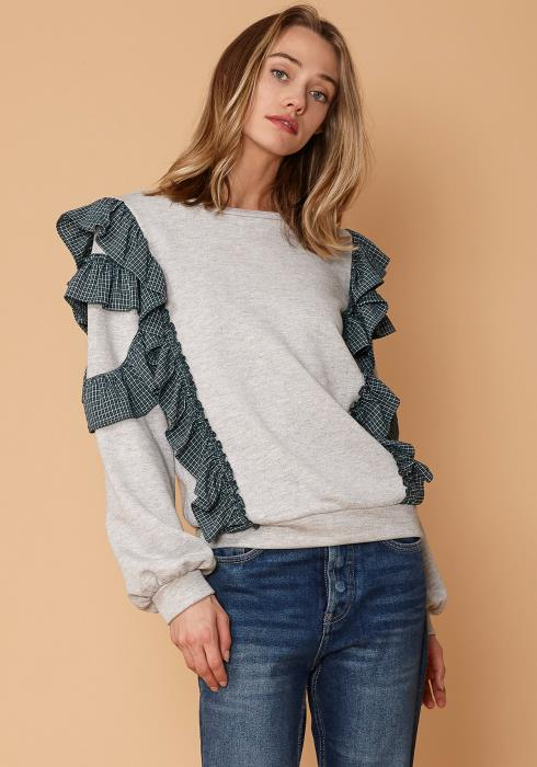 Nurode Ruffled Sweatshirt