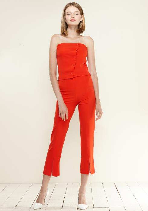 Nurode High-Waisted Cropped Pants