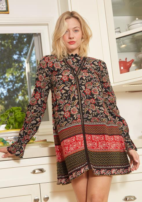 Tansy Multi Print Tunic Dress