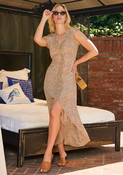 Tansy Leopard Print Maxi Dress