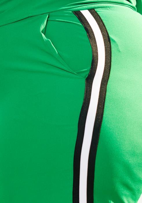 Pleione Plus Size Striped Side Binding Pants