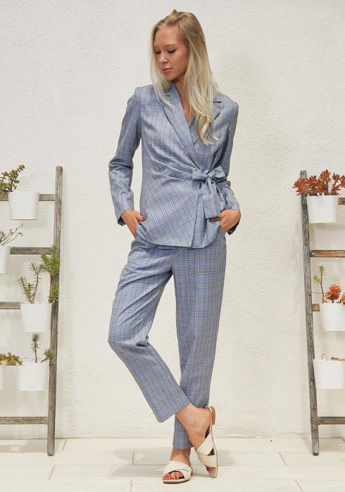 Tansy Plaid High Waist Trouser Pants