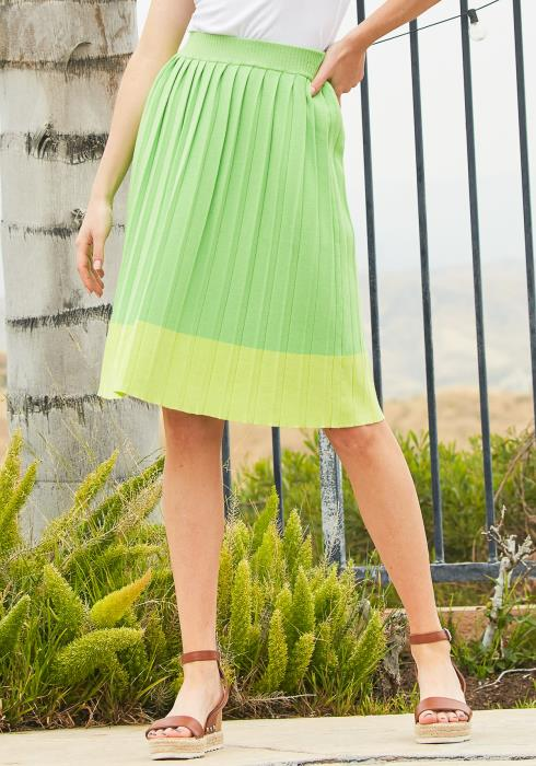 Tansy Micro Pleated Midi Skirt
