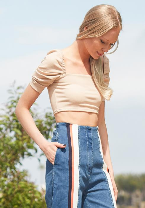Tansy Ribbed Crop Top