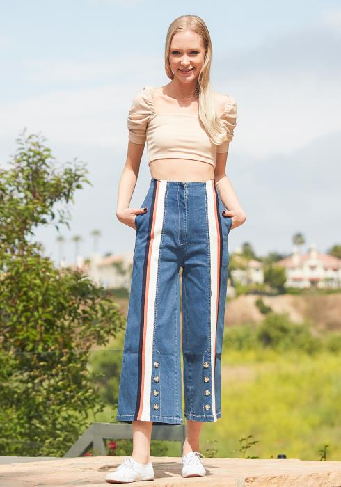 Tansy Retro Denim Pants
