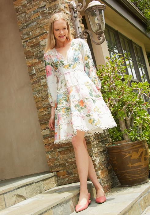 Tansy Floral Print Tiered Dress