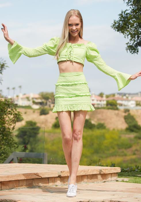 Tansy Eyelet Crop Top & Mini Skirt Set