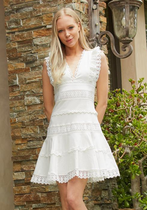 Tansy Lace Tiered Sun Dress