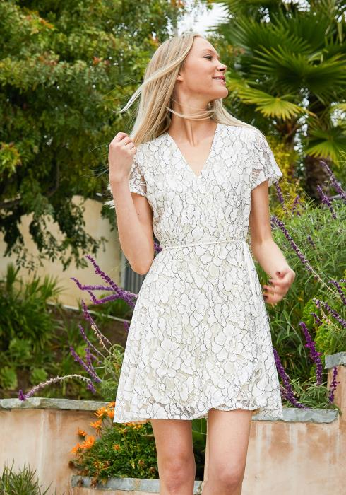 Tansy Lace Wrap Dress