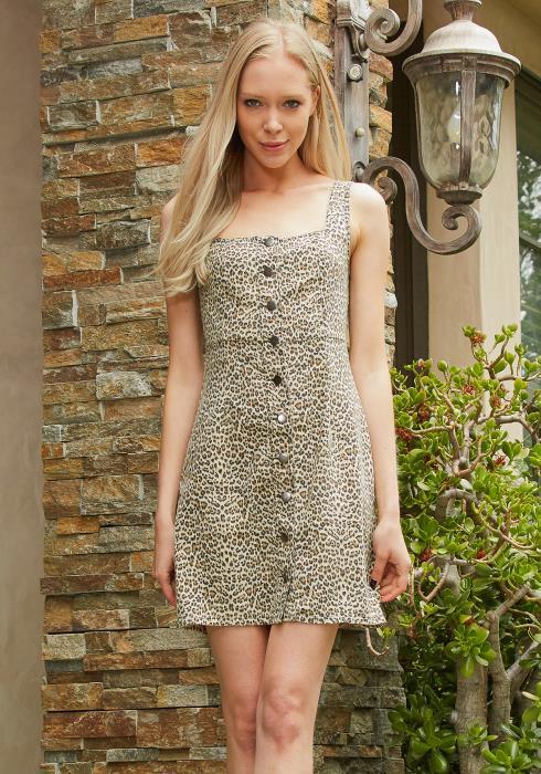 Tansy Leopard Print Dress