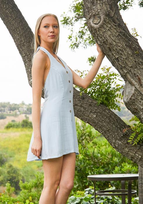Tansy Halter Mini Dress