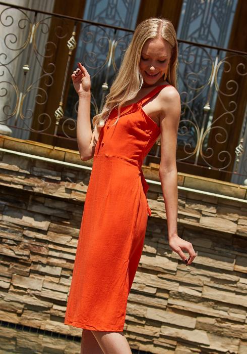 Tansy Linen Midi Dress