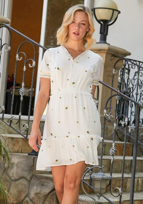 Tansy Floral Embroidered Dress