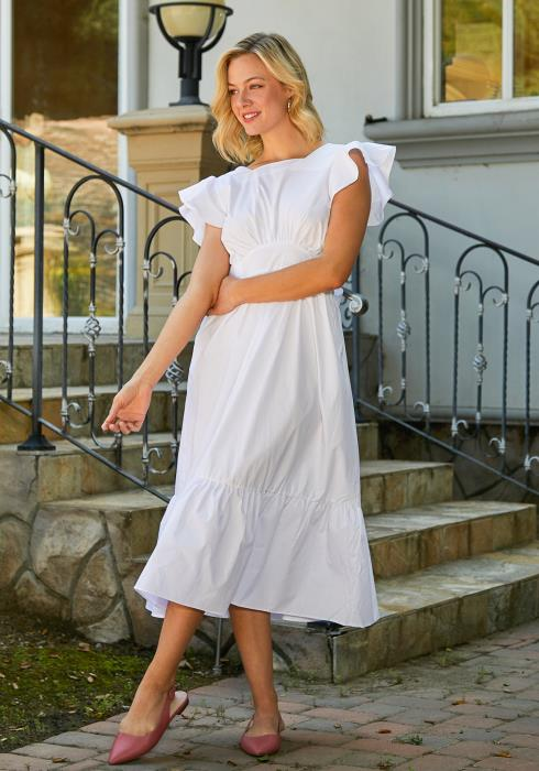 Tansy Flutter Midi Dress