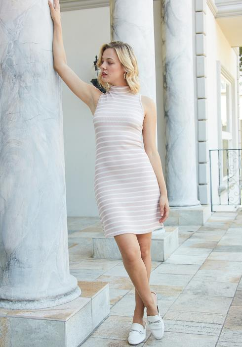 Tansy Ribbed Stripe Bodycon Dress