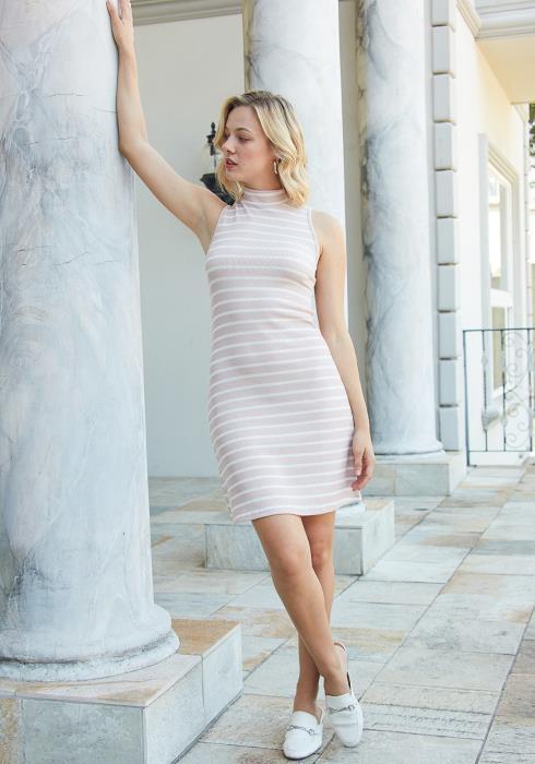 Tansy Ribbed Stripe Bodycon Dress
