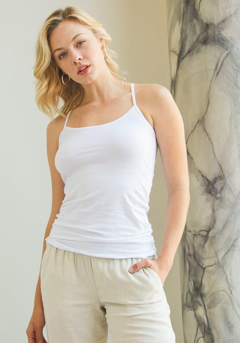 Tansy Basic Scoop Neck Cami Top