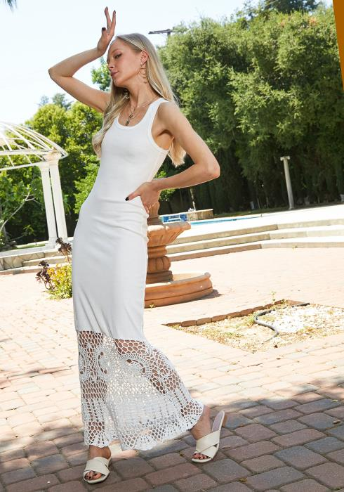 Tansy Crochet Hem Maxi Dress