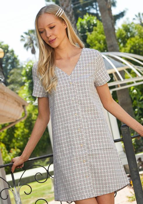 Tansy Button Up Tunic Dress