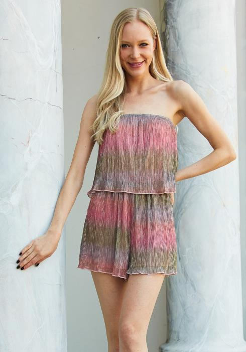 Tansy Multi Color Gradient Romper