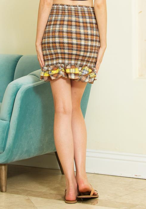 Tansy Smocked Ruffle Hem Skirt