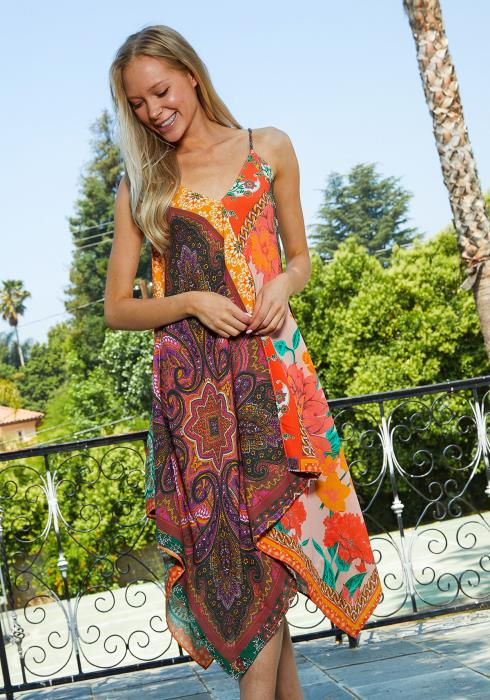 Tansy Multi Print Scarf Dress