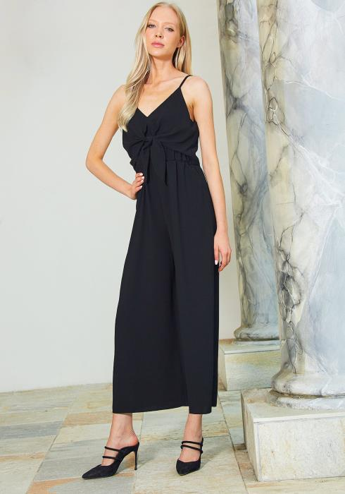 Tansy Tie Front Wide Leg Jumpsuit