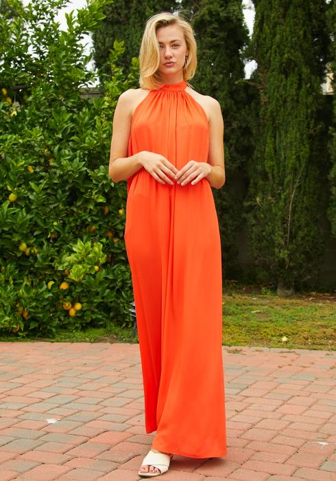 Tansy Haltered Mock Neck Jumpsuit