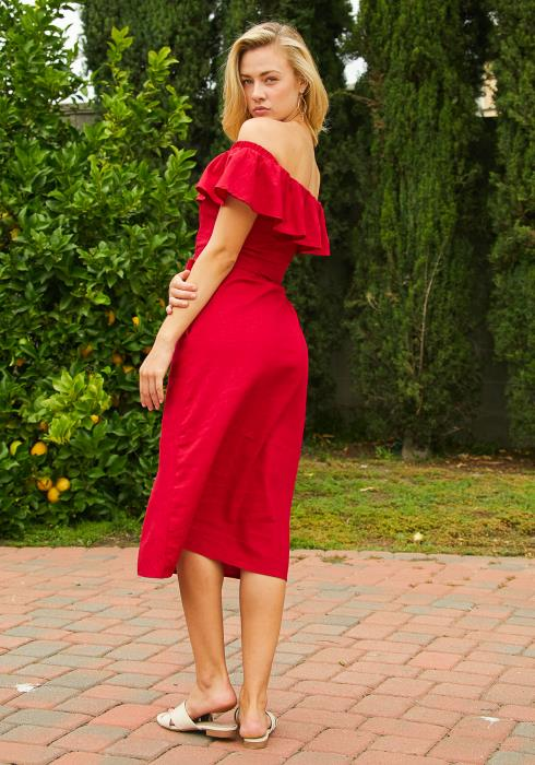 Tansy Off Shoulder Midi Dress