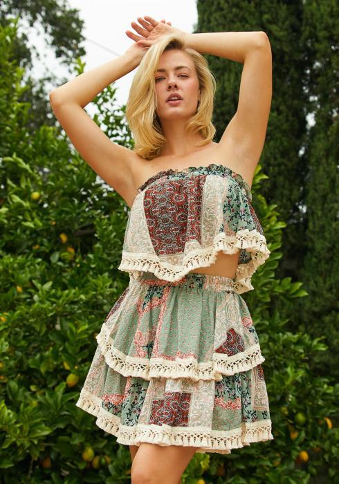Tansy Boho Mini Skirt