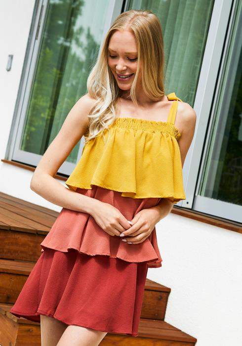 Tansy Multi Layered Ruffle Dress