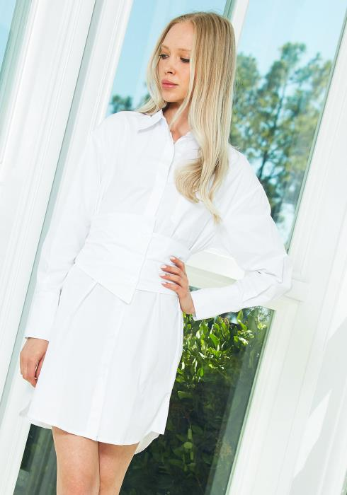 Tansy White Shirt Dress