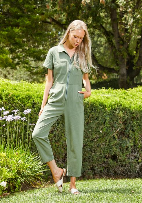Tansy Zip Up Handy Women Jumpsuit