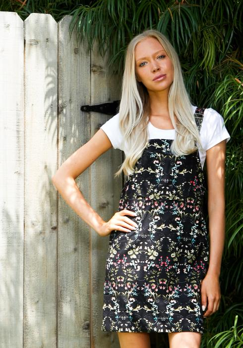 Tansy Floral Overall Dress